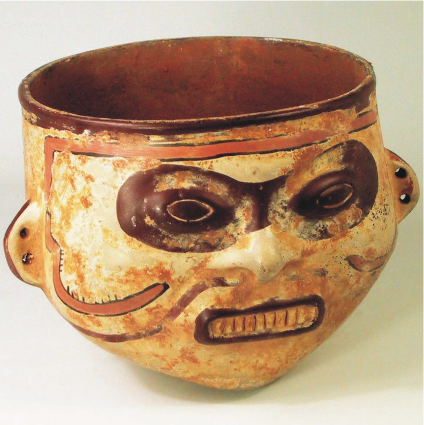 Cultura Muisca   TAZA CON CARA MUISCA / MUISCA FACE CUP